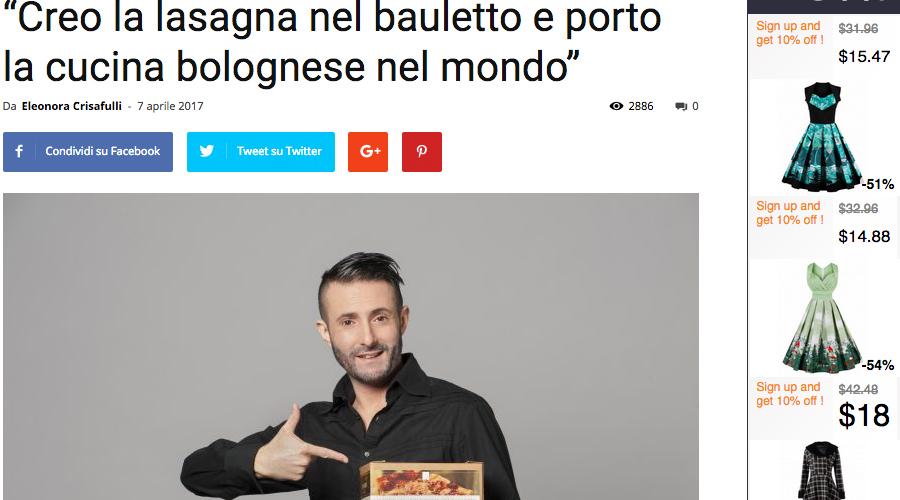 Re Lasagna su Millionaire.it / April 2017